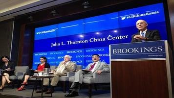 Sun Yun, Fiona Hill, Amb. Stape Roy, Cheng Li, and Strobe Talbott