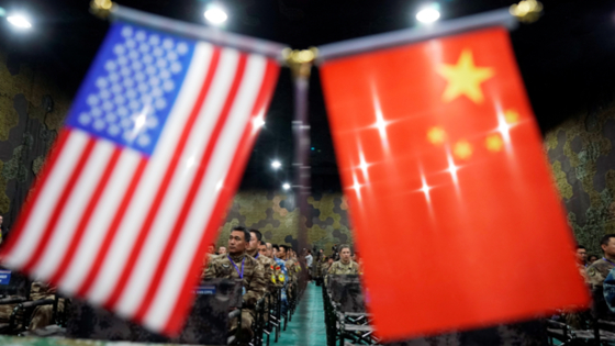 US and China flags side-by-side